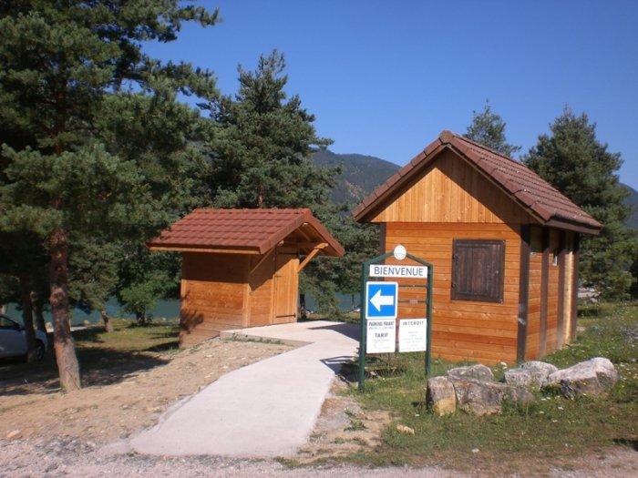 Une toilette sèche au lac de Monteynard en Isère…