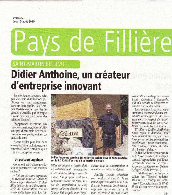 Didier Anthoine, un constructeur de toilettes sèches publiques