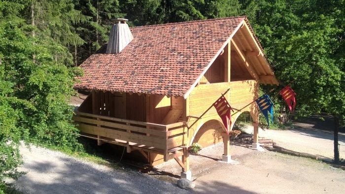 Une petite maison pour les nouvelles toilettes sèches d'Andilly