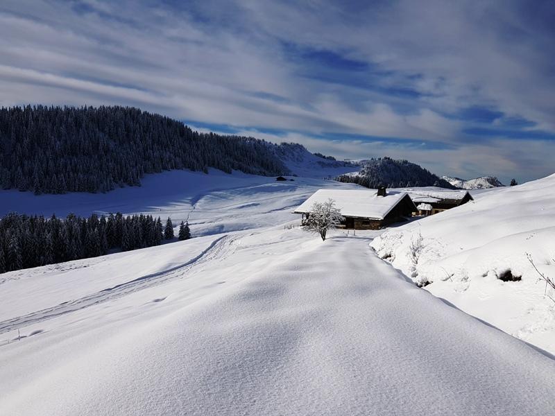 La ferme de Lorette en hivers